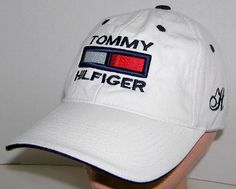 Tommy Hilfiger Vintage Bootleg White Big Logo Spelled Out Velcroback Hat Tommy Hilfiger Vintage, Hats For Sale, Baseball Cap, Logo, Best Deals, Men, Ebay, Shopping, Fashion