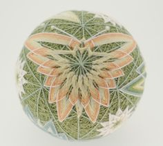 beautifully rendered butterfly temari from a modified kiku pattern