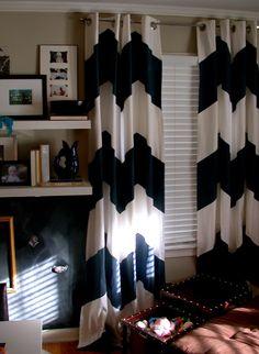 DIY Chevron Curtain Panels