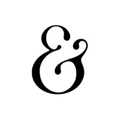 The ampersand is really a lovely and elegant thing, isn't it? Stillis Typeface by Seth Mach