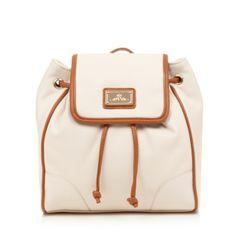 Red Herring Natural contrast trim backpack- at Debenhams.com