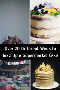 Woolworths or Coles Mud Cake Hacks - Over 20 different ideas - Domesblissity Cake Hacks, Making Whipped Cream, How To Make Icing, Cake Decorating Set, Mud Cake, Delicious Cake Recipes, Healthy Cake, Round Cakes