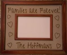 Engraved Personalized Picture Frame - Families Are Forever