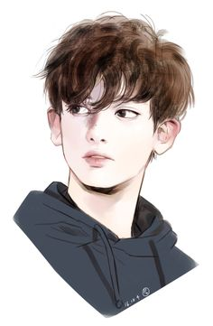 A fanart of Chanyeol. He is just soo cute in dis.