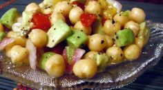 Another take on the Garbanzo and Avocado Salad! Great for a lunch meal paired with fruit for dessert!