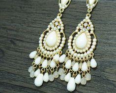 Chandelier earrings trendy earrings big earrings by bluedrib, $4.99