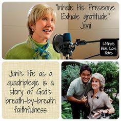 Joni Eareckson Tada, miracle, breath, God's love