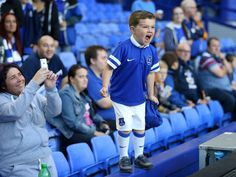 August 2013 - Capital One Cup Round) - Everton v Stevenage - A young Everton fan shouts encouragement - Photo: Simon Stacpoole / Offside. Football Is Life, Football Fans, Premier League, Kids Fans, Stevenage, Everton Fc, Sport Of Kings, Picture Editor, Manchester United Football
