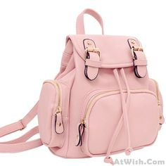 Wow~ Awesome Sweet Pink Soft Mini Lovely Backpack! It only $33.99 at www.AtWish.com! I like it so much<3<3!