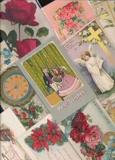 Nice! Vintage/Antique Lot of 1900's Holiday/Greetings Postcards- 25 Cards-a59 #HolidaysGreetings