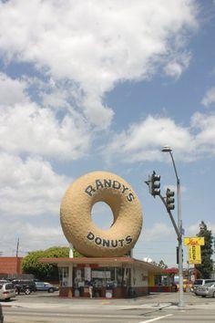 """RandysDonuts.com, BIG DONUT LAX, ron & larry """"world's BEST donuts"""""""