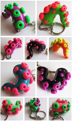 PMX Tentacle Keychains by KTOctopus on DeviantArt