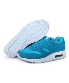 factory price 1a24c 9aa51 Men s Nike Air Max 1 Shoes Blue Light Blue Sale