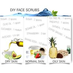 """""""DIY FACE SCRUBS"""" by fatal-poison-4-u on Polyvore"""