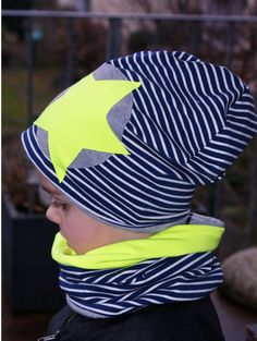 Beanies – Set Beanie and Loop Blue Striped Star Neon – a … – About Baby Hat Patterns To Sew, Baby Sewing, Boys Shirts, Baby Hats, Outfit Sets, Nice Tops, Boy Outfits, Kids Fashion, Neon