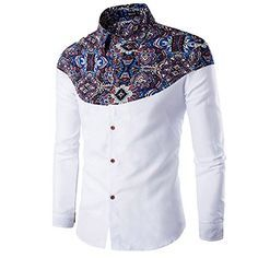 Cheap camisa hombre, Buy Quality men brand dress shirt directly from China mens dress shirts Suppliers: Luxury Brand Mens Dress Shirts 2016 Fashion Floral Printed Long Sleeve Men Shirt Chemise Homme Casual Stylish Camisas Hombre African Shirts For Men, African Dresses Men, African Men Fashion, Fashion Men, Urban Fashion, Autumn Fashion, Fashion Photo, Latest Fashion, Style Fashion
