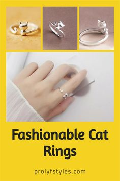 Make a statement with this cute silver cat ring $18.50 on ProLyf Style - The Fashion Lifestyle Centre. Show your fun loving fashion style with this sterling silver cat ring. Depicting an adorable cat design, this adjustable ring shimmers with brilliant polished finish for gorgeous look. Get it today and take your casual styles to the next level. Make this trendy silver ring the perfect gift for mothers day for those cat lover. The cutest rings for cat lover's accessories. Women's Silver… Women's Rings, Cute Rings, Smart Ring, Everyday Rings, Silver Cat, Bohemian Rings, Casual Styles, Fun Loving, Adjustable Ring