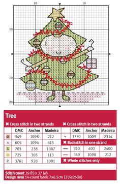 #CrossStitch #chart #tree #christmas #FestimeCostume #card -- Cross Stitch Crazy 209