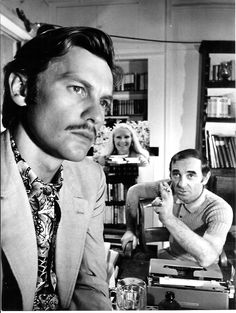 Helmut Berger and Charles Aznavour in Un beau monstre directed by Sergio Gobbi, 1971