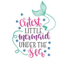 Mermaid Under The Sea, The Little Mermaid, Silhouette Cameo Projects, Silhouette Design, Mermaid Quotes, Mermaid Room, Mermaid Mermaid, Disney Little Mermaids, Vinyl Shirts