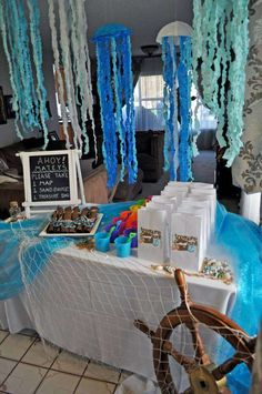 Mermaids and pirates birthday party! See more party ideas at CatchMyParty.com!