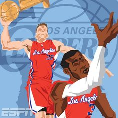 LA Clippers 'NBA Champions' Caricature Art - Hooped Up