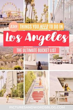 The Ultimate Los Angeles Bucket List   150+ Epic Things to Do in Los Angeles   Los Angeles Travel Guide   California Road Trip Inspiration   California Travel Inspiration   A Local's Guide to LA   LA Bucket List   Best Los Angeles Food   Where to Eat in LA   California Road Trip Itinerary   Los Angeles Itinerary   California Itinerary Los Angeles Travel Guide, Los Angeles Food, Travel Guides, Travel Info, Travel Tips, United States Travel, California Travel, Travel Usa, Travel Inspiration
