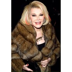Remembering Joan On What Would Have Been Her 82nd Birthday #joanrivers #sable #fur #furcoat #fashion #funny #smart #madeuslaugh