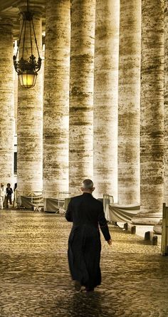 Priest in the Vatican - Rome, Italy.
