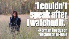 I couldn't speak after Negan said that if anyone moves he will cut Carl's other eye out and feed it to Rick I almost punched the tv.
