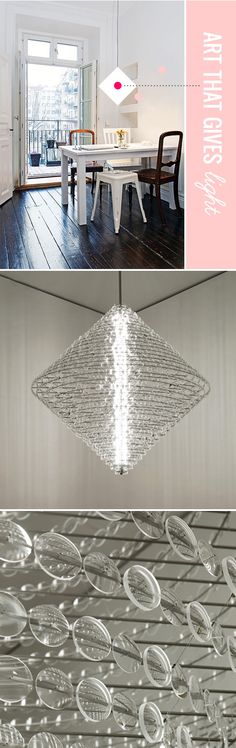 "chandelier by lighting designer/artist stuart haygarth, titled ""magoo"""