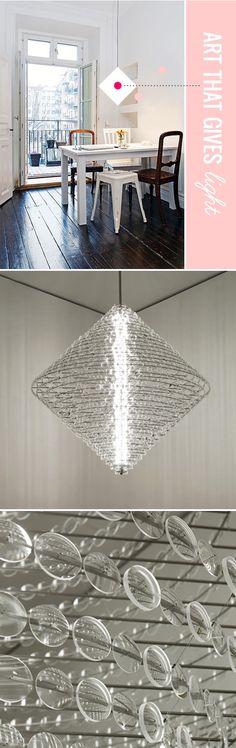 "chandelier by lighting designer/artist stuart haygarth, titled ""magoo"""