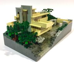 frank lloyd wright s falling water in legos falling waters and legos