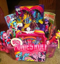 Minnie mouse easter basket my crafts pinterest easter my little pony easter basket for my peanut negle Images