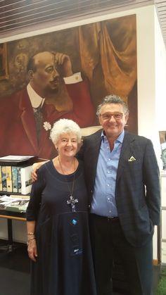 Paola Meneghetti con Mr. Foppa Pedretti, l'lng. Bonetti.
