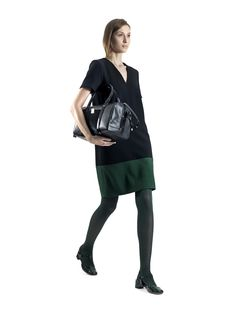 Raoul Fall Winter 2012 - Double Back Zipper Dress in black and green  $127.50
