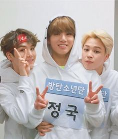 Jungkook, Jimin, and Yoongi  BTS