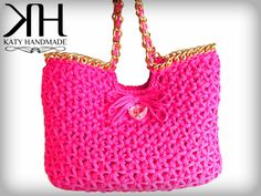 Shopping bag all'uncinetto - Crochet bag (by Katy Handmade)