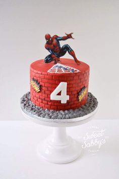 Spiderman cake made by sweetsabbys