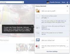 Facebook ngeluarin shortcut untuk privacy. Mungkin dah capek mereka dikritik menjerumuskan orang agar privacynya tidak terjaga.