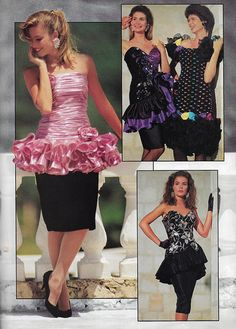 Just Seventeen — September 'Fall Formals by Alyce Designs. 80s Prom Dress Costume, 80s Costume, 1980s Dresses, Prom Dresses, Evening Dresses, 80s And 90s Fashion, Fashion Outfits, 90s Prom, Vintage Prom