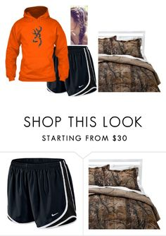 """""""Laying in bed all day"""" by forevercountry ❤ liked on Polyvore featuring NIKE and Realtree"""