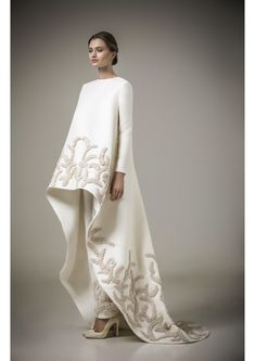 Mohammed Ashi Returns to Signature Oriental Embroidery for His Resort 2016 Collection