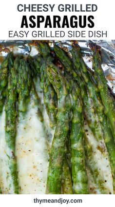This recipe for Cheesy Grilled Asparagus shows you exactly how to grill asparagus in a foil packet. Trimmed asparagus topped with cheeses and then grilled in foil comes out perfectly tender. This healthy side dish is great for ketogenic and low carb lifestyles.