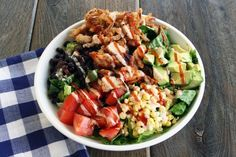 BBQ Ranch Chicken Salad (adapted from Cheesecake Factory). I think I may have to make this salad over the weekend.