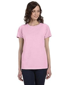 e5aafa65 Authentic Pigment Ladies 56 oz PigmentDyed DirectDyed Ringspun TShirt PINK  XL *** Check this