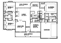 split bedroom floor plans 1600 square feet Level 1 view expanded