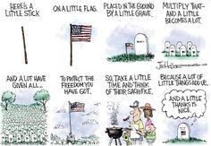 GIVE THANKS | May/23/16 Joe Heller - Green Bay Press-Gazette - Memorial Day -
