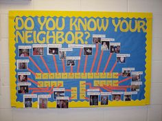 Cute bulletin board for the beginning of the year...add fun facts to make it even better!