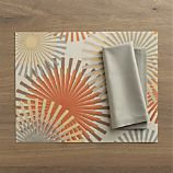 Recycled Gus Placemat and Cotton Taupe Napkin
